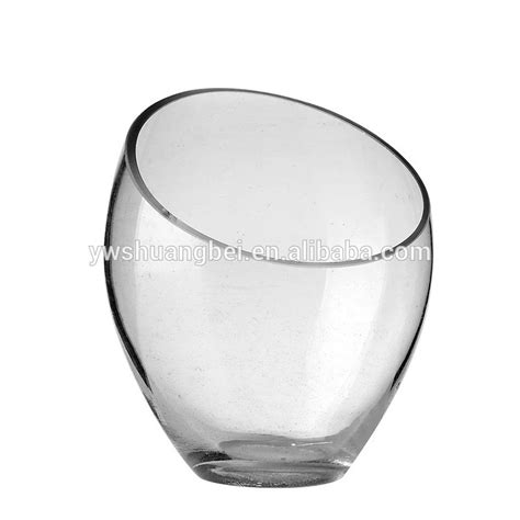 decorative glass cups decorative modern round clear glass vases bowl