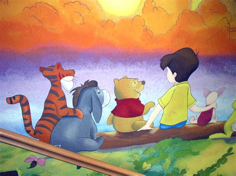 winnie the pooh painting winnie the pooh wall 2 by ginas cakes on deviantart