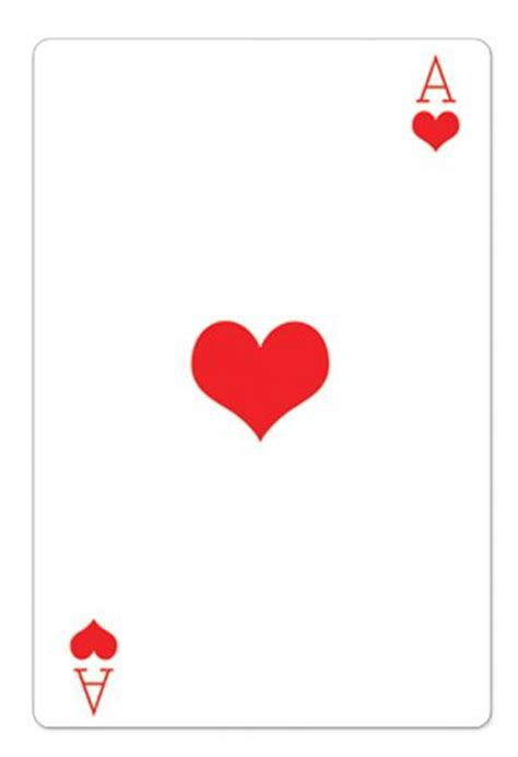 Ace Cards Template by Ace Of Hearts Card Cardboard Cutout 1 54m