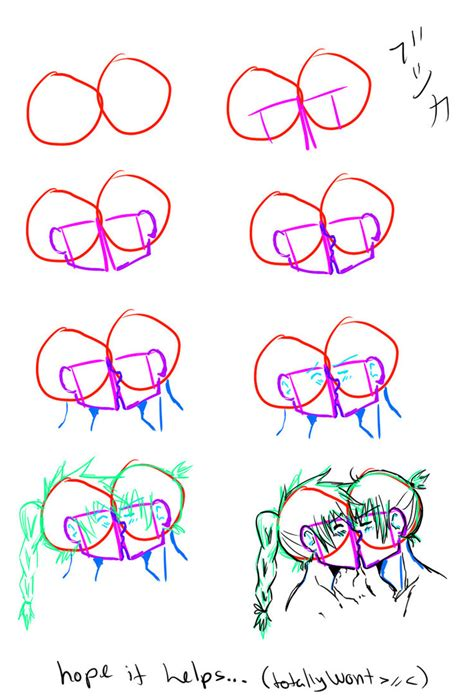 kiss tutorial drawing how to draw kissing by saroona97 on deviantart