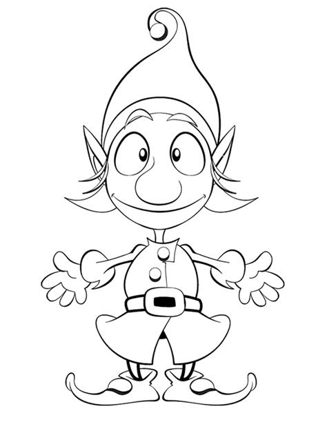 printable elf coloring picture elf free printable coloring pages