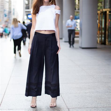 pant leg style how to wear wide leg pants instyle com
