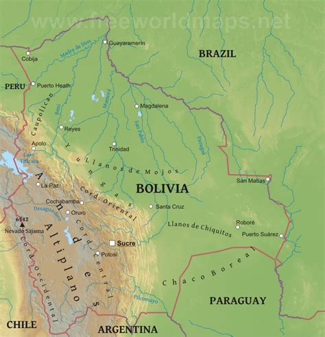 5 themes of geography bolivia bolivien bergen karte