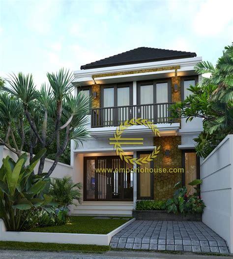 desain rumah dua lantai desain rumah 2 lantai 3 kamar lebar tanah 6 meter dengan