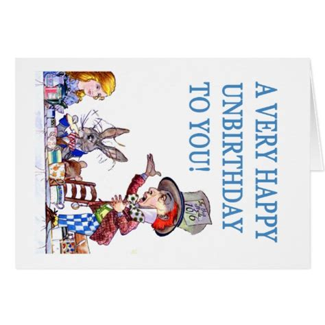 A Very Happy Unbirthday To You Greeting Cards Zazzle Unbirthday Card Template