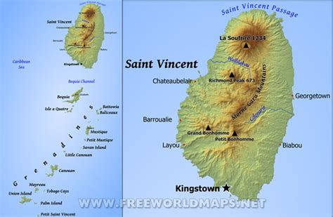 map st vincent and the grenadines vincent and the grenadines map geographical