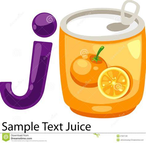 illustration alphabet letter j juice royalty free stock photos   image 21921128