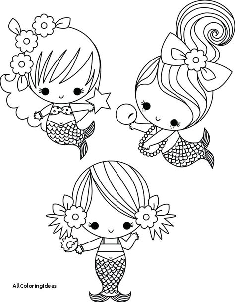 Mermaid Coloring Pages For
