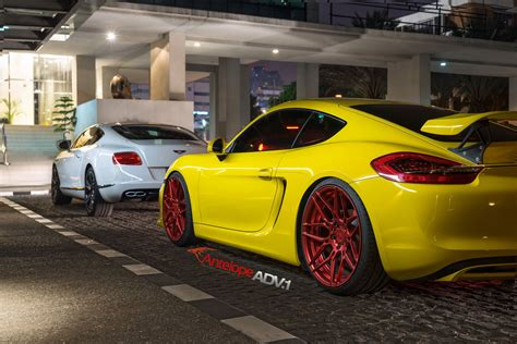 custom porsche wheels porsche cayman s adv7 m v2 cs polished w matte clear