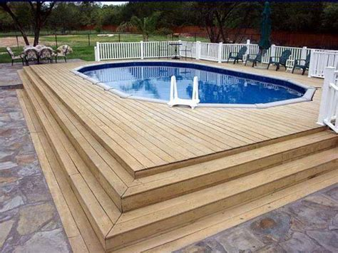 swimming pool decks how to repair how to build decks for above ground