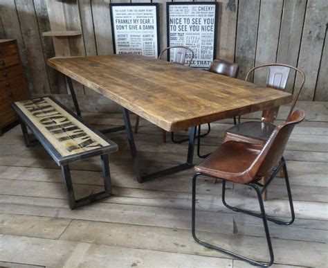 industrial style dining room tables lewis calia style extending vintage industrial