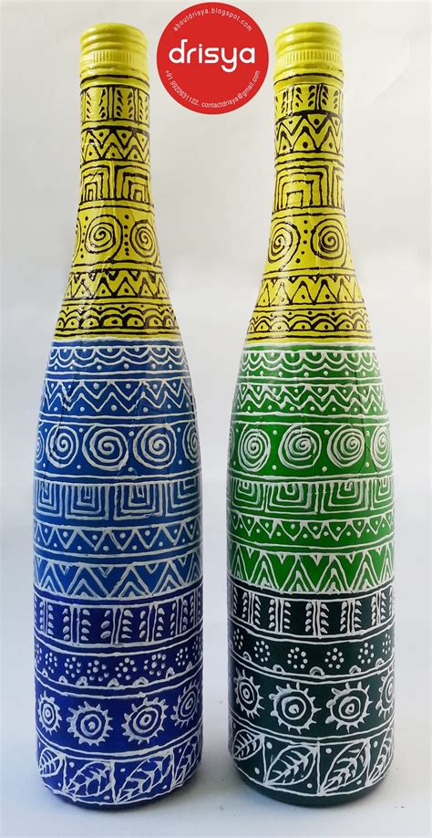 Home Decor Lights Online by Hand Painted Designer Bottles From Drisya