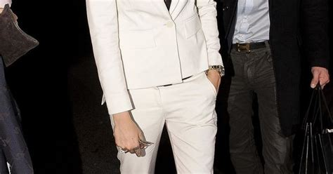 cara delevingne white suit cara delevingne in a white suit white suits black tops