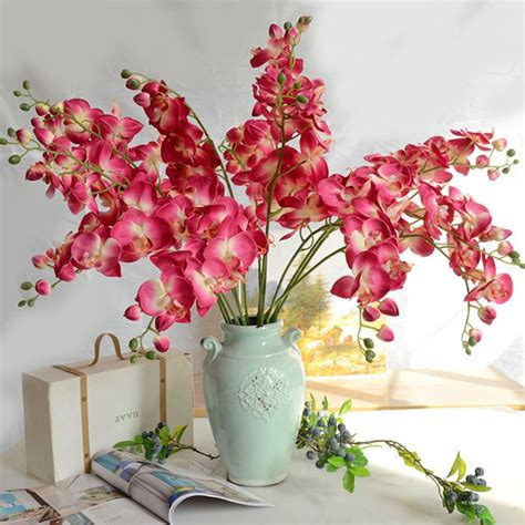 artificial flower home decor 1pc diy gorgeous artifical butterfly orchid wedding party