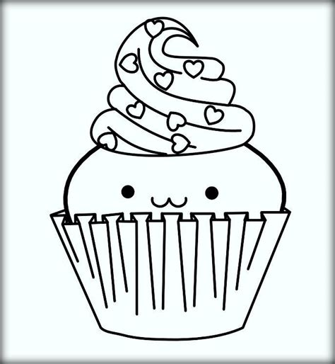 Printable Coloring Pages Of Cupcakes by Printable Cupcake Coloring Pages Color Zini