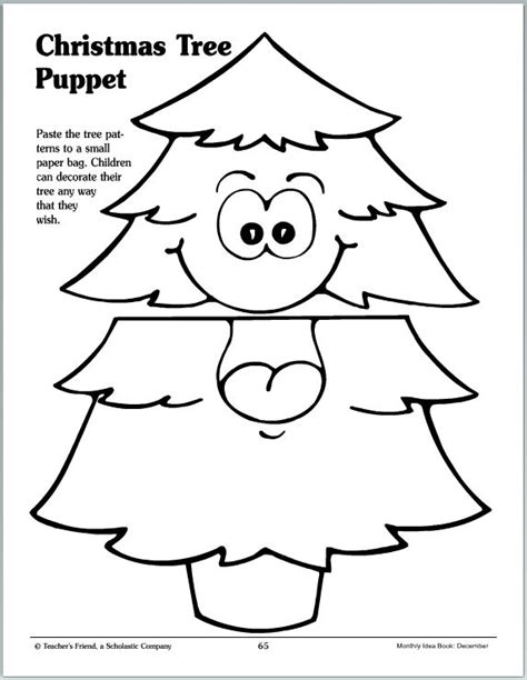 printable christmas paper finger puppets christmas tree puppet parents scholastic com