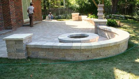 patio wall ideas patio fire pit and sitting wall backyard ideas