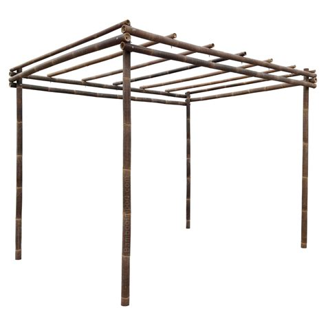 wooden pergola kit black bamboo pergola kit 3 x 4 m