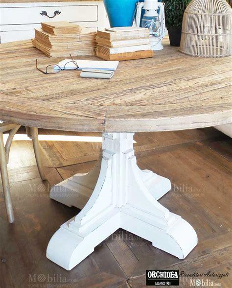 tavolo rovere sbiancato affordable tavolo rotondo salotto legno rovere sbiancato