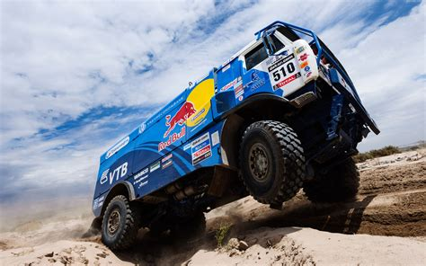 rally truck kamaz red bull dakar truck wheel in air 195281 photo 11