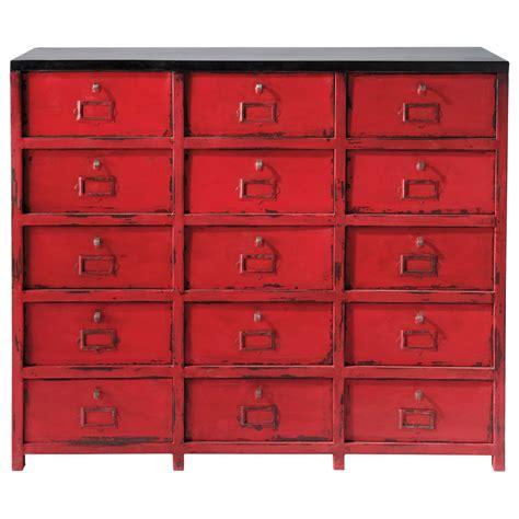 Cabinet De Rangement cabinet de rangement en m 233 tal l 115 cm vermillon