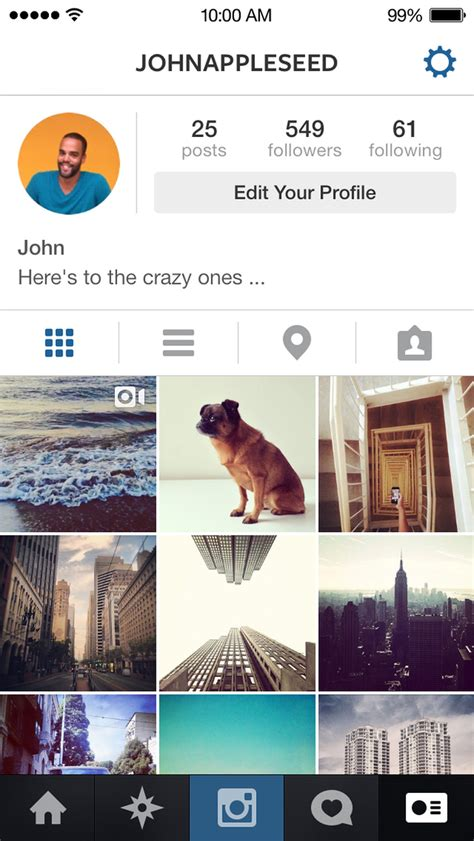 instagram refreshes its app for ios 7 but not the icon