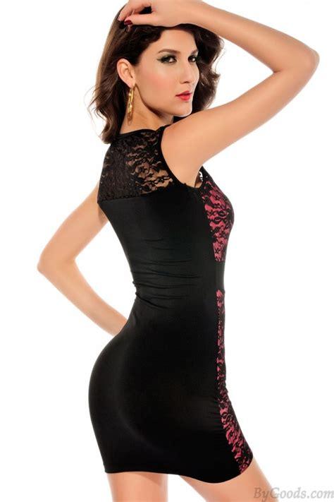 Mini Dress 505 flexibility sleeveless lace slim mini dress fashion