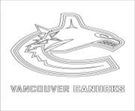 coloring pages vancouver canucks new jersey devils logo nhl hockey sport coloring pages