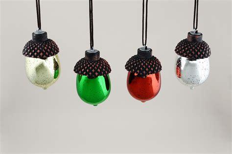 acorn ornaments 8 led mercury glass acorn ornaments