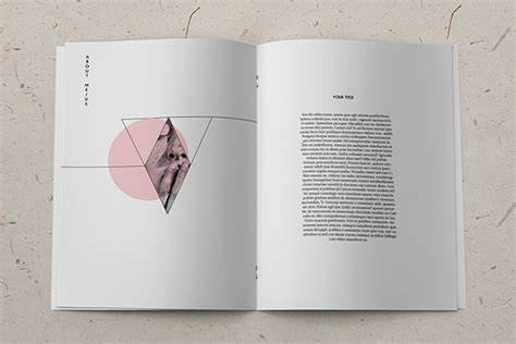 minimalistic fashion catalog template on behance