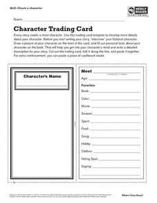 quiz quiz trade card template character trading card lesson plan for 7th 8th grade