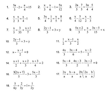 two step equations with fractions worksheet solving equations by clearing fractions worksheet pdf solving equations equation and puzzles