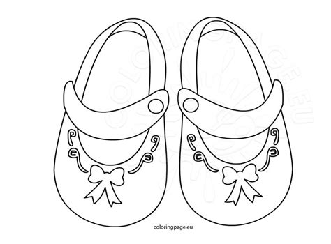 coloring pages of baby shoes baby girl shoes with bow coloring page