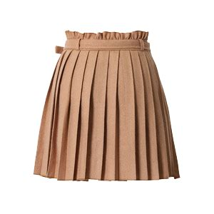 Mini Dress White Transparant beige pleated skirt transparent background
