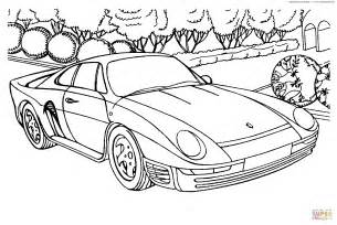 Porsche Coloring Pages Porsche 959 Coloring Page Free Printable Coloring Pages