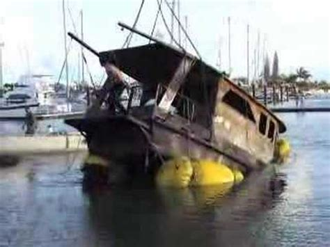salvage boat work burnt salvage boat video youtube
