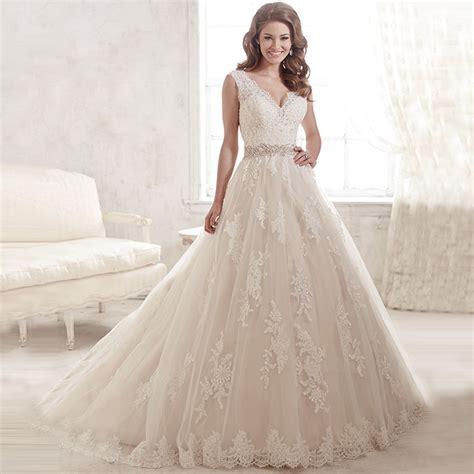 white beaded wedding dress 2016 lace appilques new fashion white beaded lace