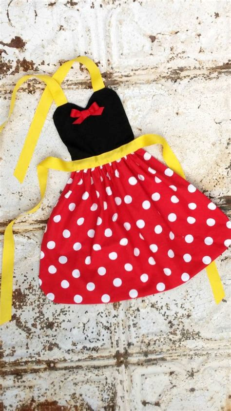Minnie Mouse Apron Size 4 6 Yo 1370 best images about just mickey and minnie walt disney on walt disney mickey