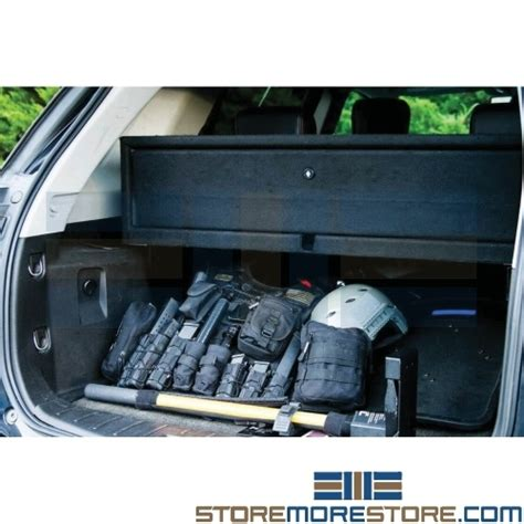 stack on tactical gun cabinet instructions trunk mounted firearms locker police vehicle weapon safe