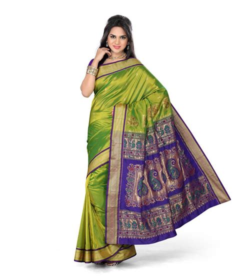 saree real paithani saree india online store of paithani saree ishin prints green silk paithani saree buy ishin prints