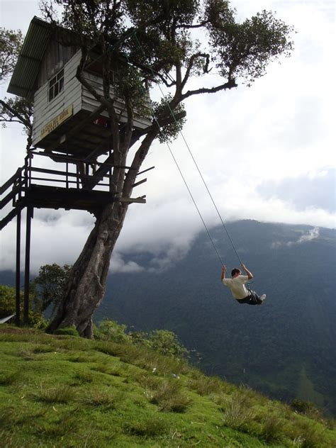 la swing the adventurous swing at casa del arbol ecuador world