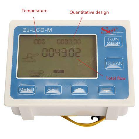 12 Water Flow Lcd Meter Flow Sensor Solenoid Valve 1 2 Quot Water Flow Lcd Meter With Flow Sensor And
