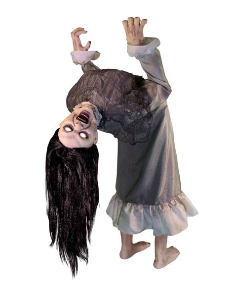 zombie girl swing animated prop broken spine girl animated decoration halloween party