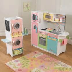 kidkraft uptown pastel play kitchen and laundry playset
