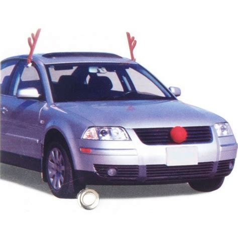 car reindeer antlers and nose and other christmas car