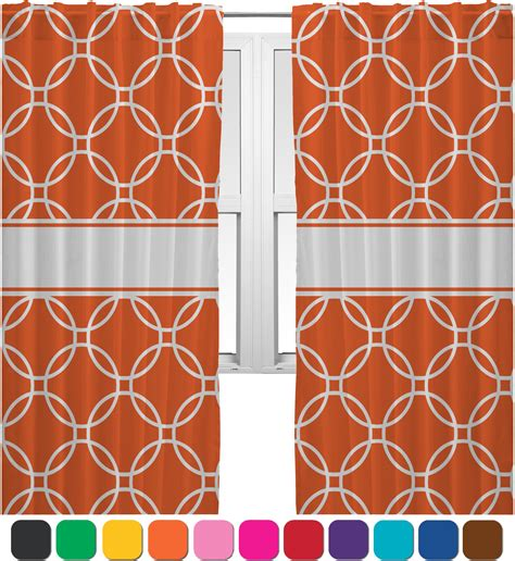 curtains with circles linked circles curtains 20 quot x54 quot panels unlined 2