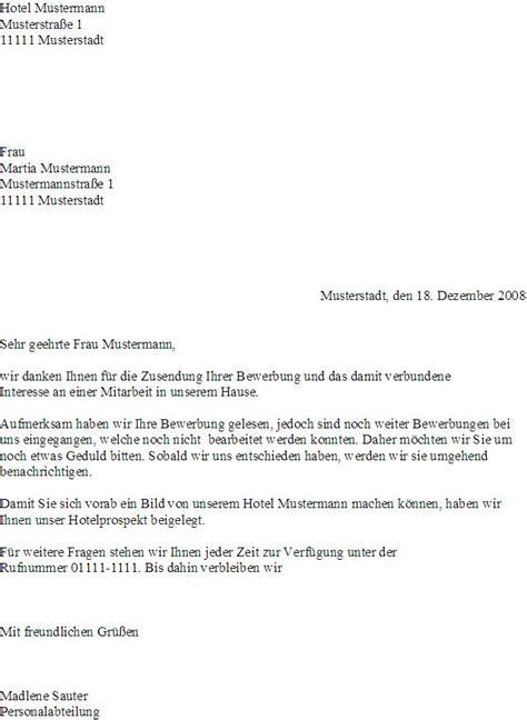 Bewerbung Fur Hotel Muster Antwort Auf Bewerbung Hotel Lexikon Fandom Powered By