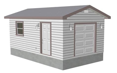 Shed Garage Plans by 12 X 20 X 8 Workshop Shed Garage Plans Blueprints