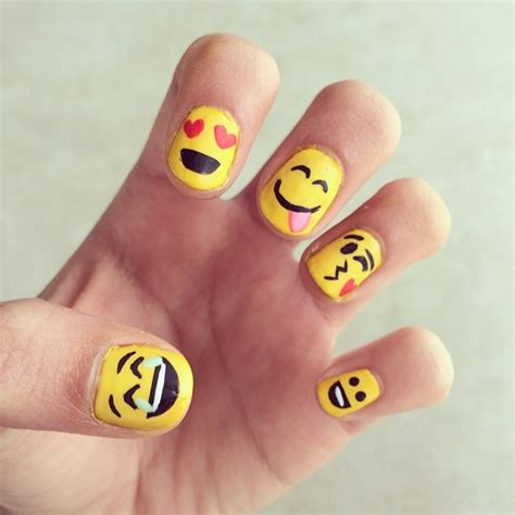 emoji nail art tutorial emoji nail art for your emotional side stylecaster