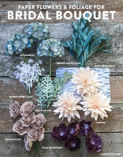 How To Make Paper Wedding Flowers - diy rustic paper bridal bouquet lia griffith